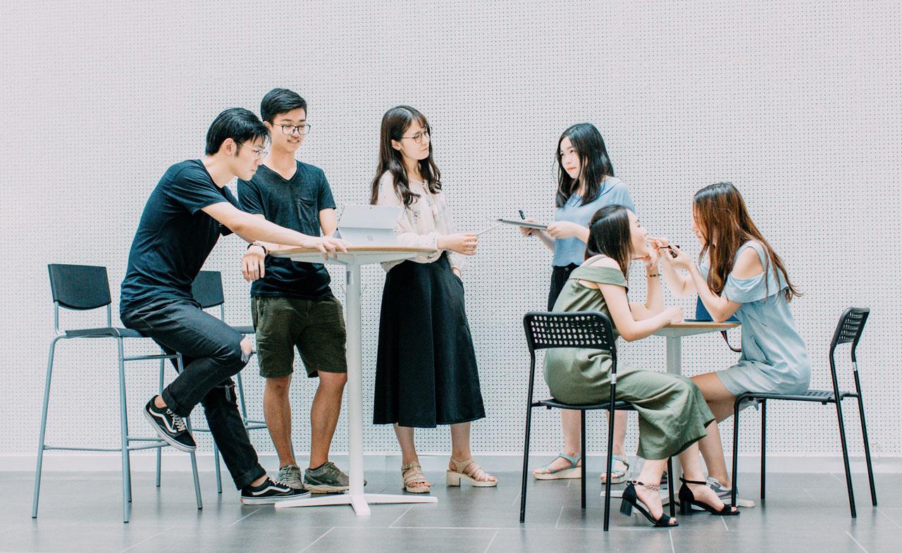 trabalho em grupo em empresa