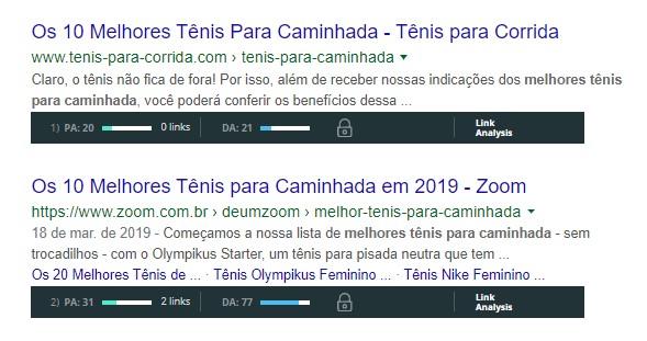 exemplo autoridade de dominio serp google