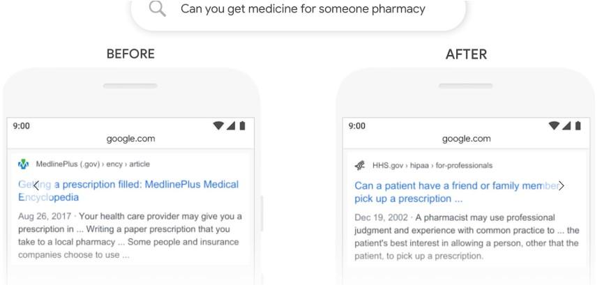 google bert pesquisa antes e depois farmacia