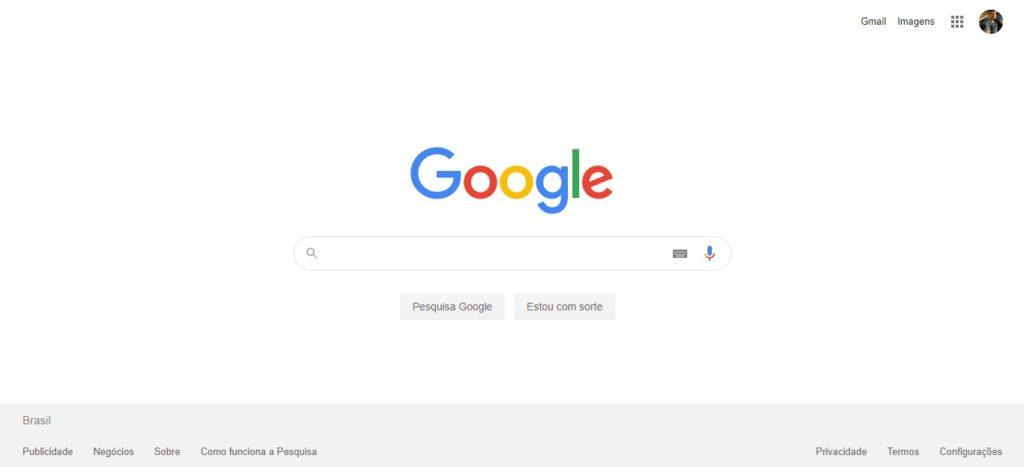 google pagina inicial 2019